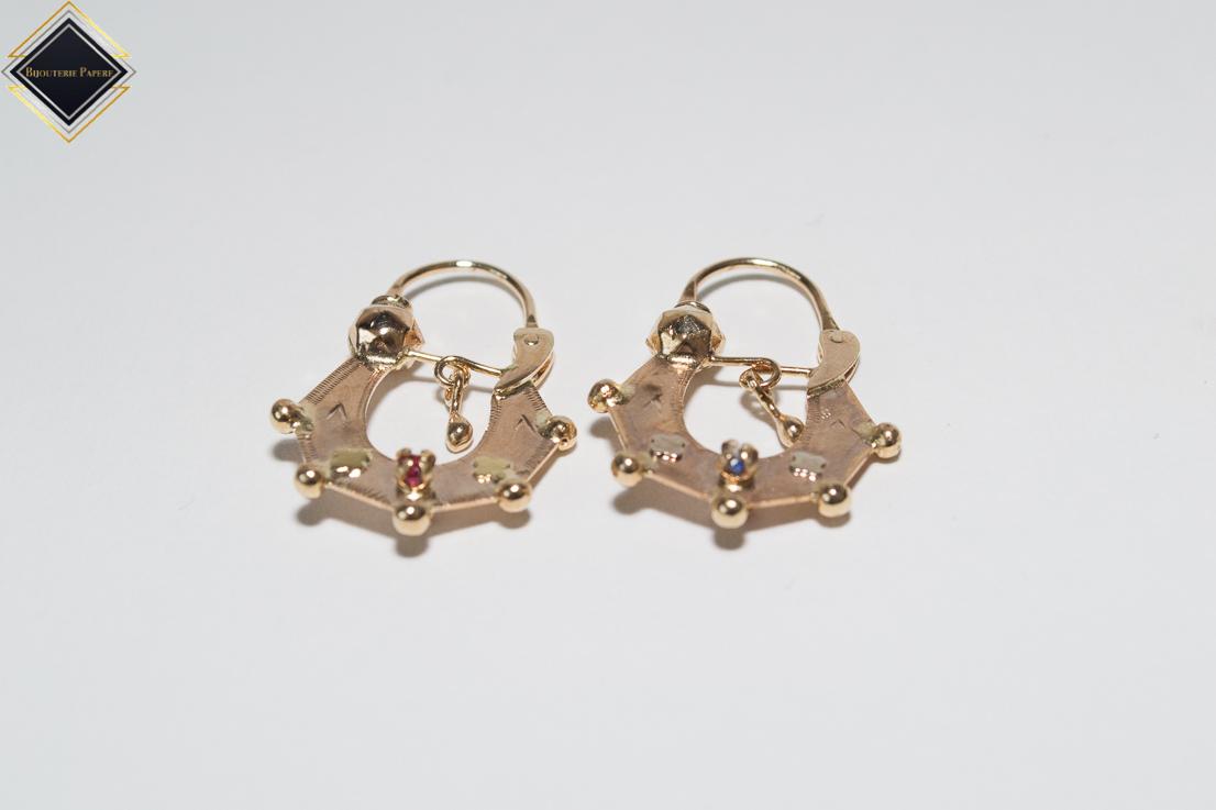 magasin en ligne cb2ab 45ad4 Boucles d'oreilles savoyardes modèle 11 double